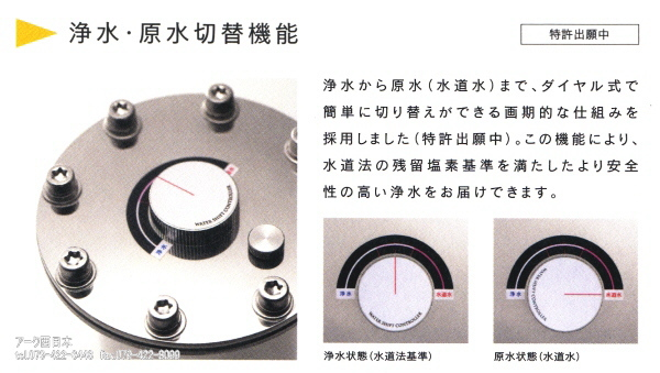 浄水・原水切替機能 CR−500MS