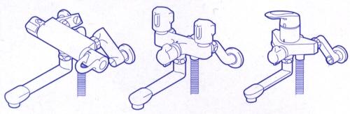 設置方法ですが、1例ですが蛇口によっていろいろな方法があります。蛇口によっては取付できない場合もありますので必ず蛇口をご確認下さい。