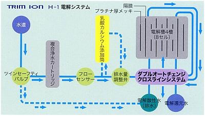 TRIM ION H-1 の電解システム