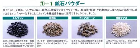 鉱石パウダー「トルマリン」「龍浄石」「ガイアストーン」「焼成サンゴ」